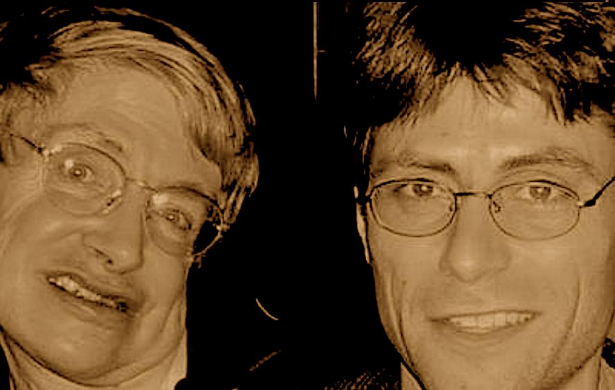 Stephen Hawking and Max Tegmark