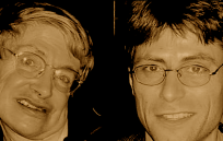 Stephen Hawking and Max Tegmark