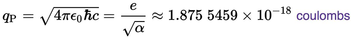Planck Charge