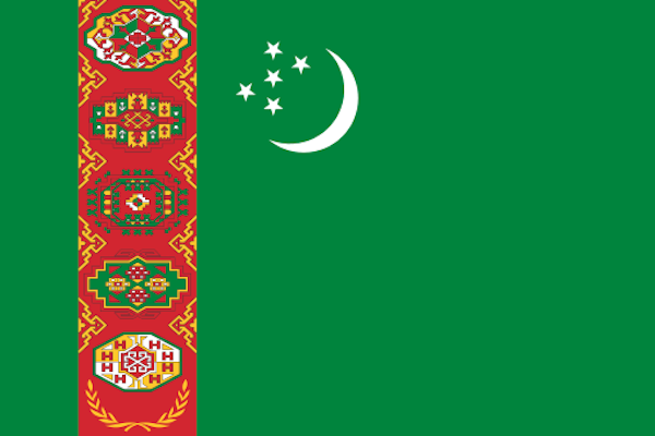 Turkemistan Flag