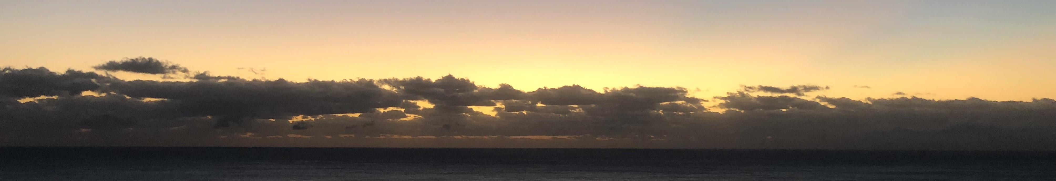 Sunrise, December 6, 2018, at 6:29 AMM